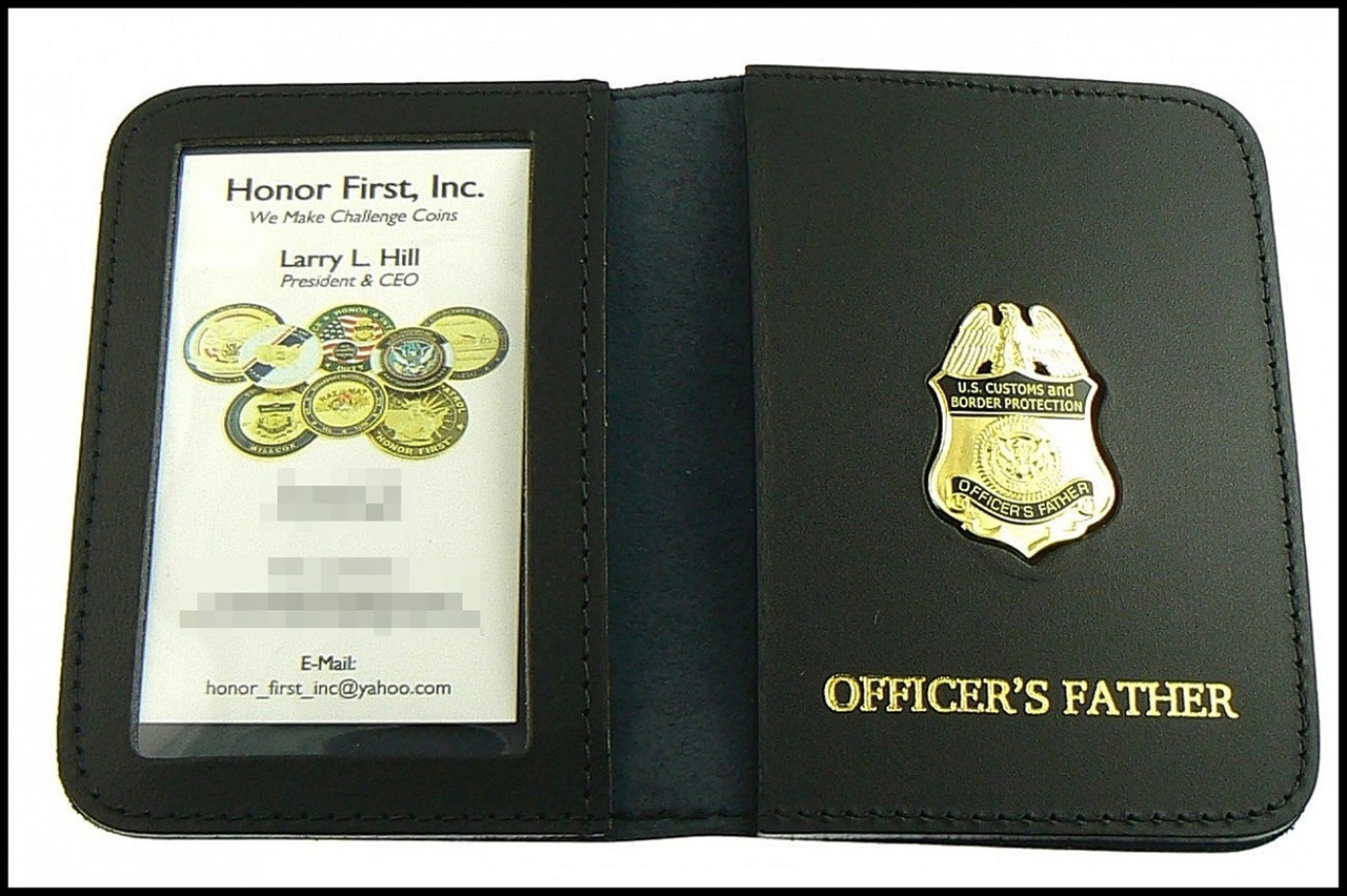 CBP Officers Father Mini Badge ID Case