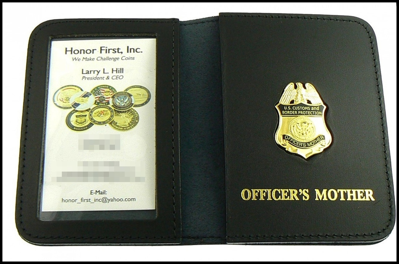 CBP Officers Mother Mini Badge ID Case