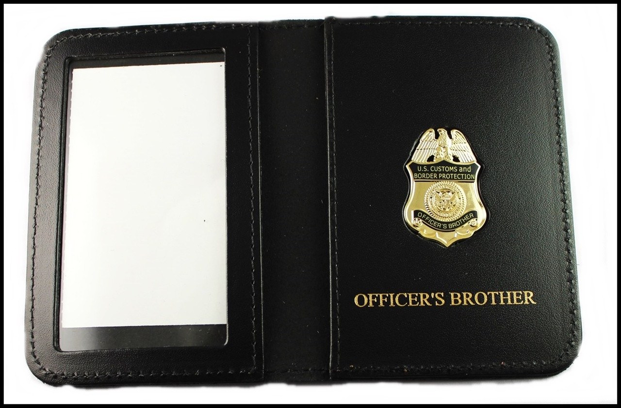 CBP Officers Brother Mini Badge ID Case