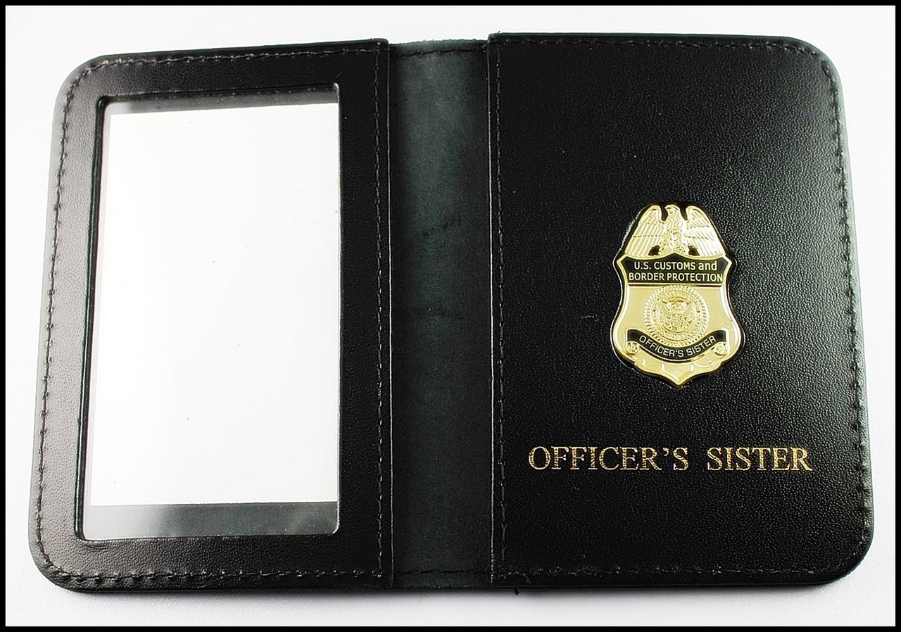 CBP Officers Sister Mini Badge ID Case