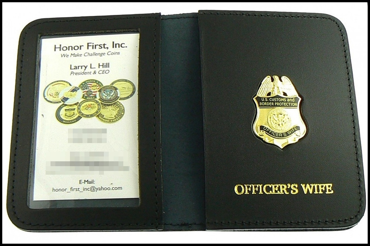 CBP Officers Sife Mini Badge ID Case