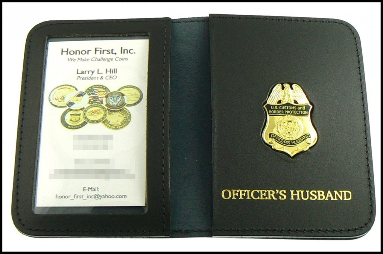 CBP Officers Husband Mini Badge ID Case