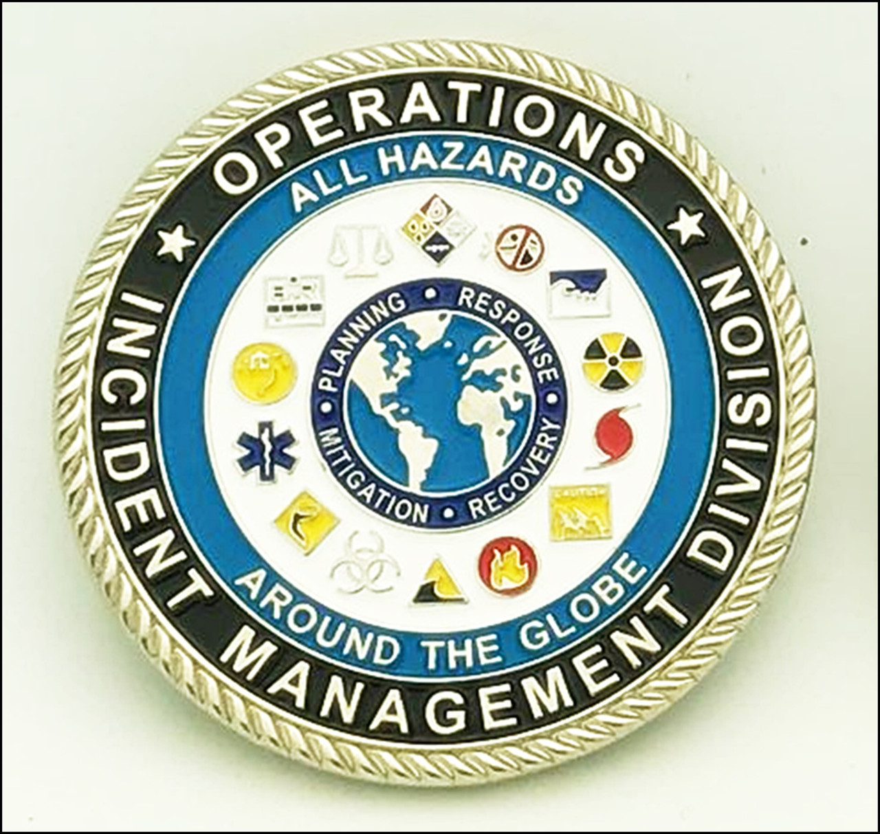 CBP Incident Management Challenge Coin Front