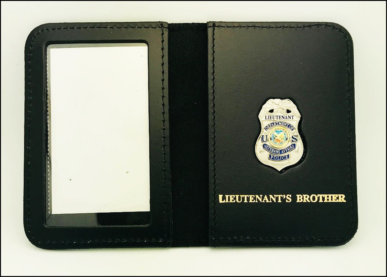 Dept. of Veterans Affairs Police Lieutenant Mini Badge ID Case - Lieutenant's Brother