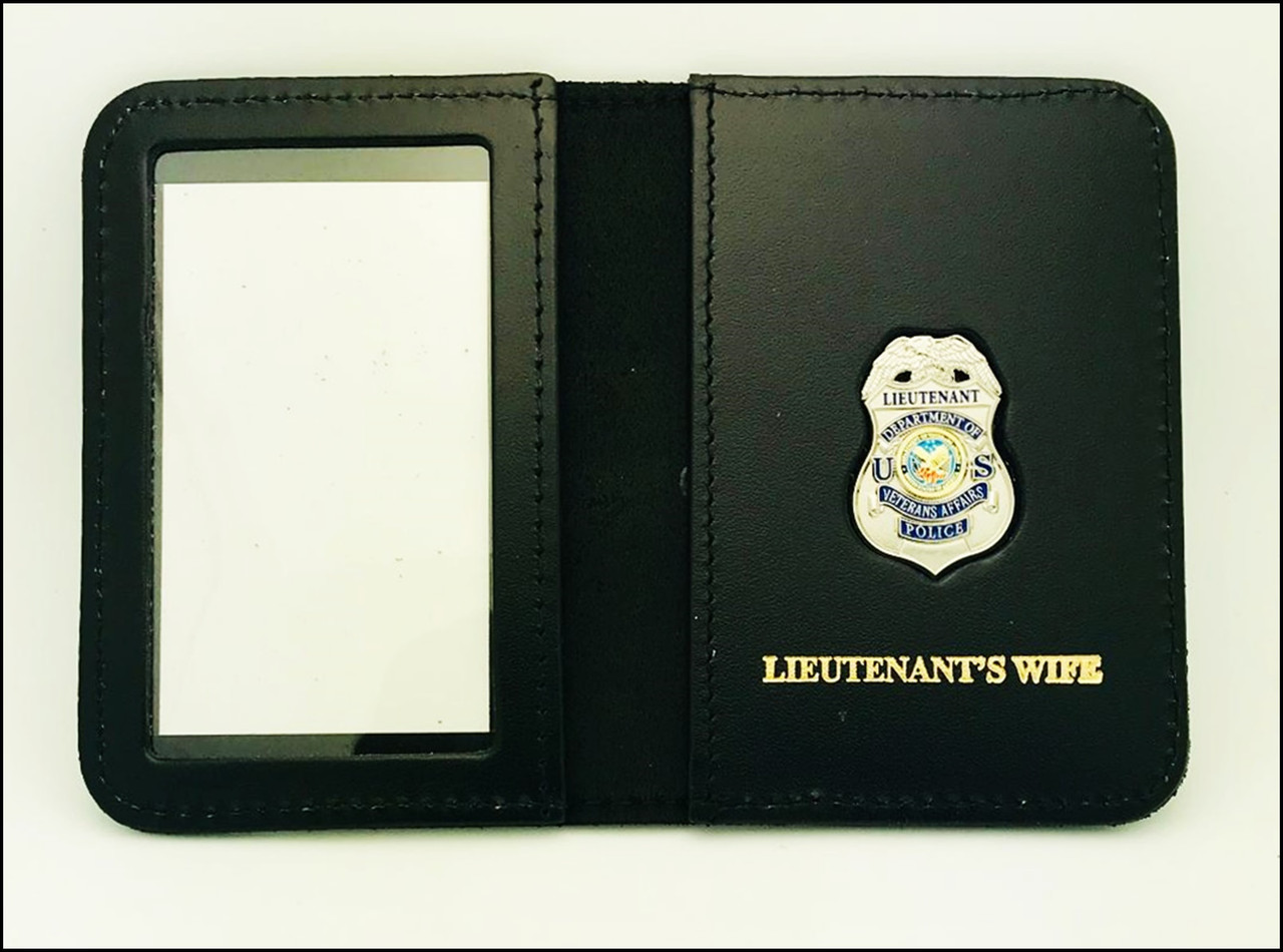 Dept. of Veterans Affairs Police Lieutenant Mini Badge ID Case - Lieutenant's Wife