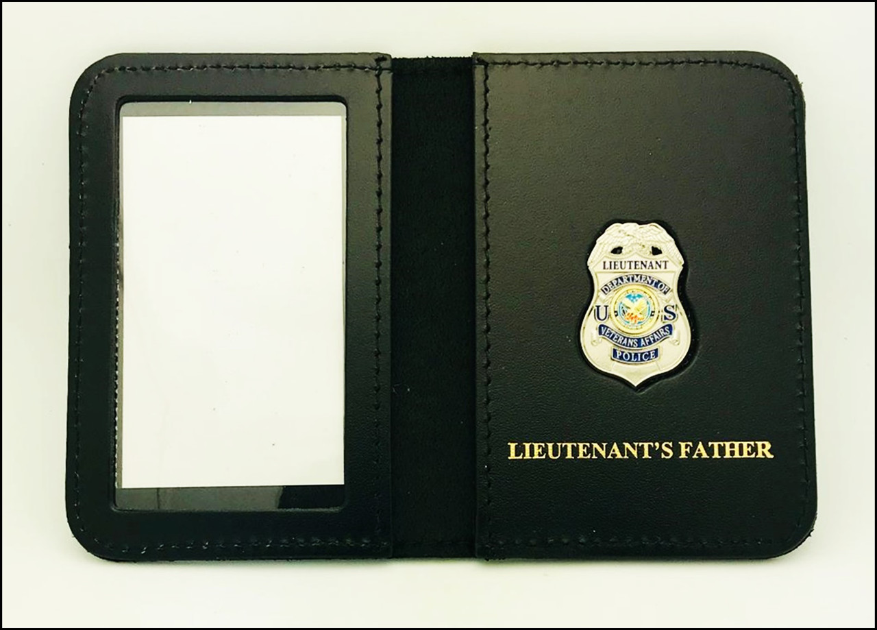 Dept. of Veterans Affairs Police Lieutenant Mini Badge ID Case - Lieutenant's Father