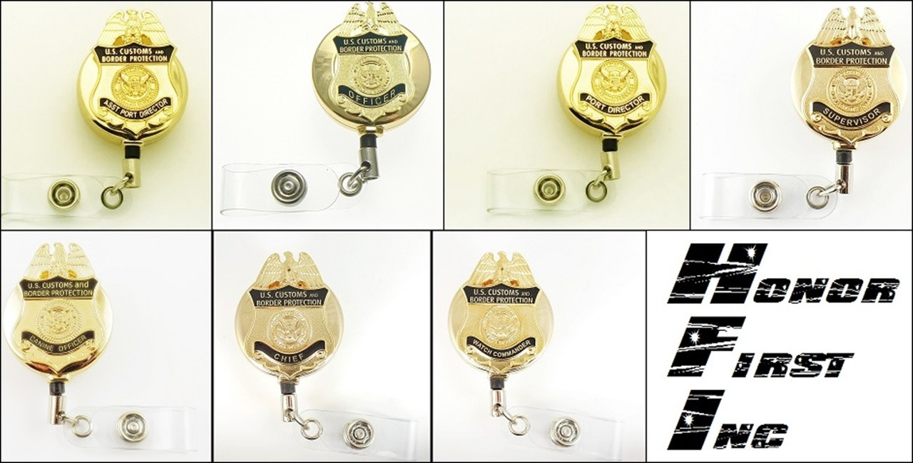 Customs and Border Protection Officer Mini Badge ID Holders | ID Reels