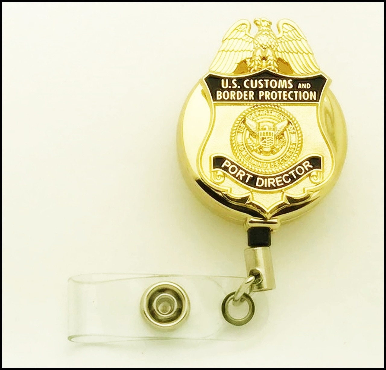 Customs and Border Protection Port Director Mini Badge ID Holder | ID Reel