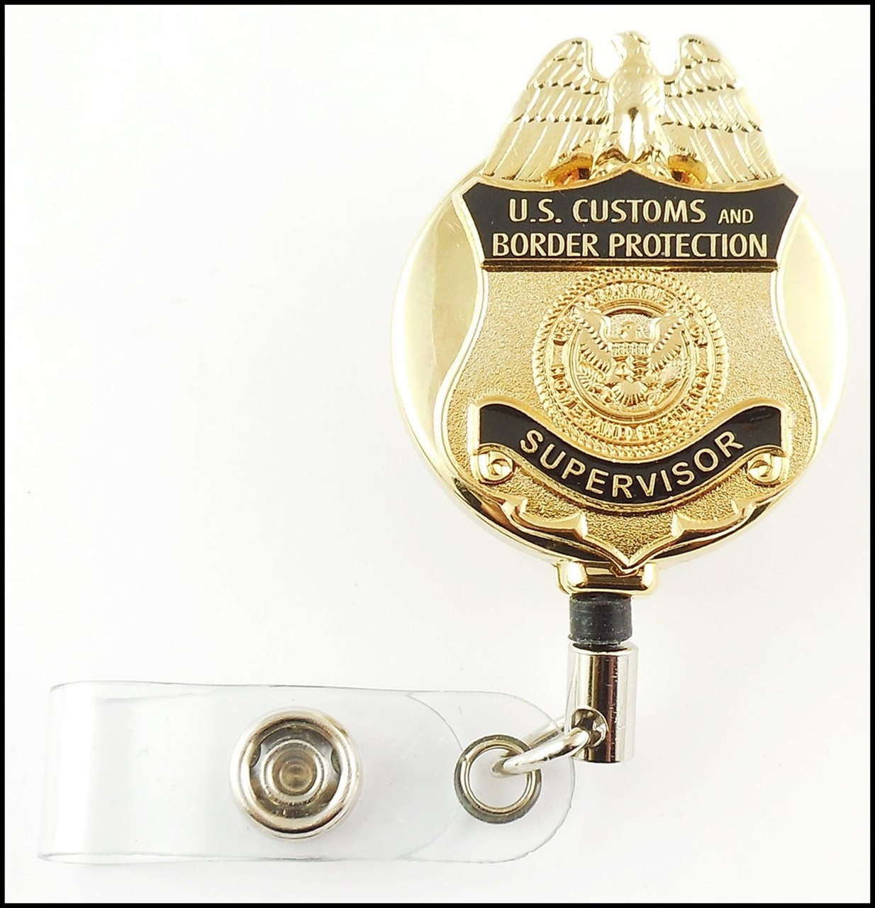 Customs and Border Protection Supervisor Mini Badge ID Holder | ID Reel
