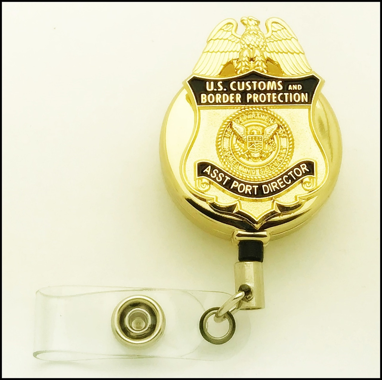 Customs and Border Protection Asst Port Director Mini Badge ID Holder | ID Reel