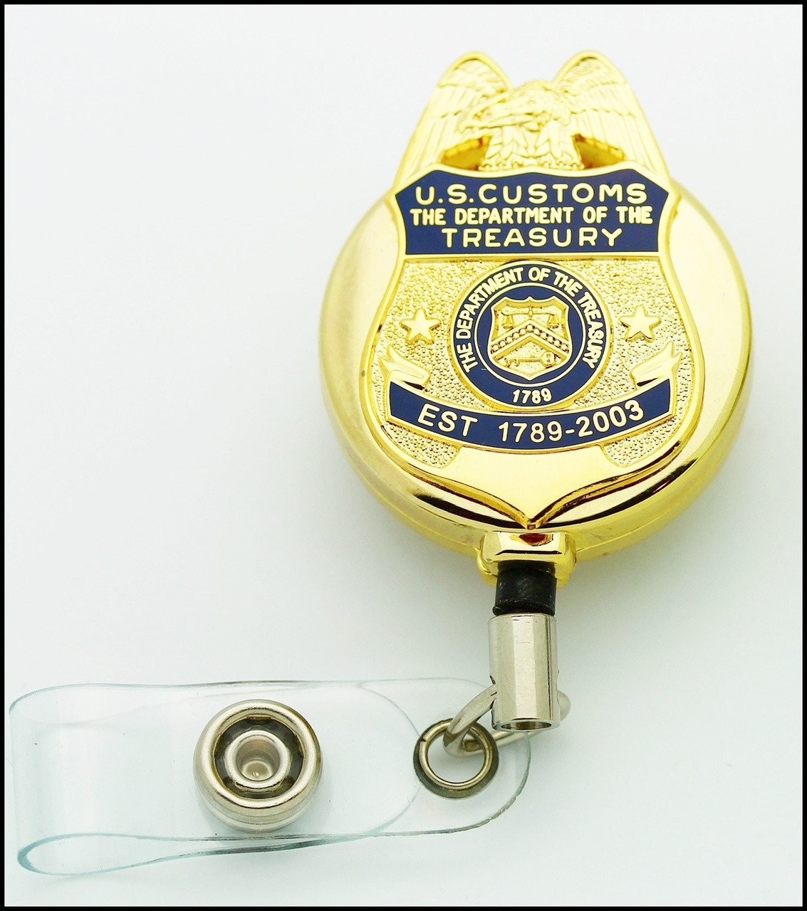 US Customs Service ID Reel in Gold