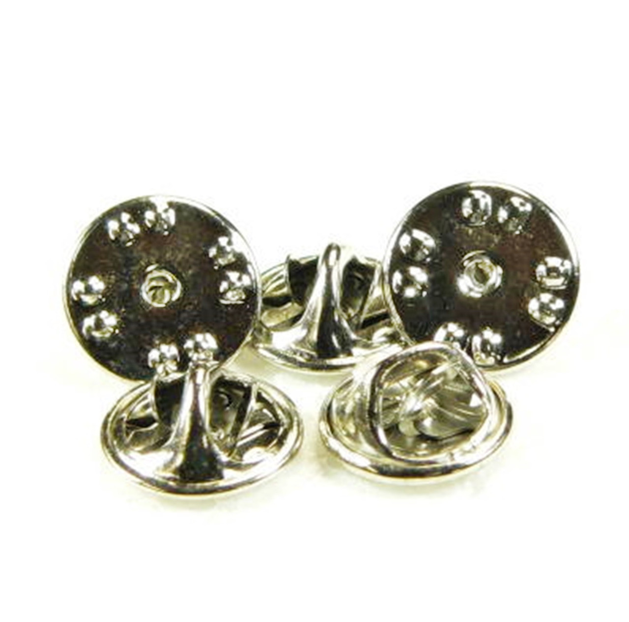 Butterfly Clutch Lapel Pin Clasps (Frogs) - Silver