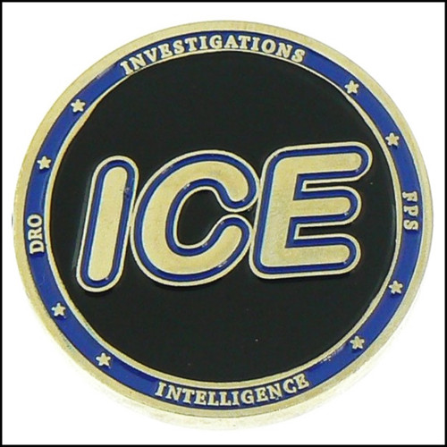 Immigration and Customs Enforcement Challenge Coin - Back
