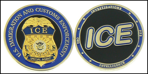 Immigration and Customs Enforcement Challenge Coin