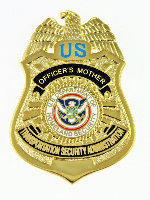 Transportation and Security Administration Officer's Mother Mini Badge Pin