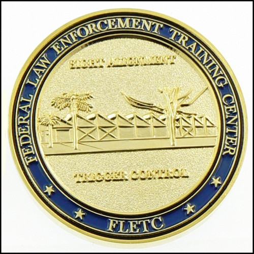 Federal Law Enforcement Training Center Firearms Division Challenge Coin - Back