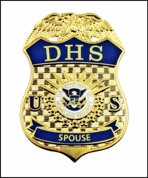 "Department of Homeland Security ""DHS Spouse"" Mini Badge Lapel Pin"