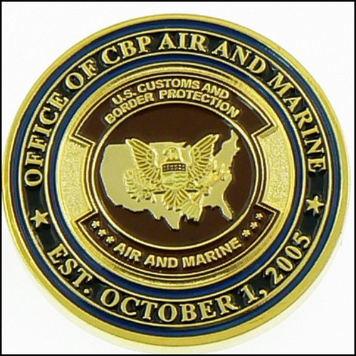 Air and Marine Operations Air Interdiction Badge and Patch Challenge Coin - Back