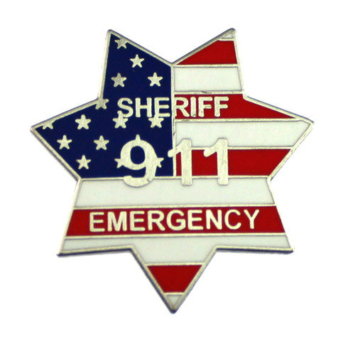 911 Sheriff Emergency Mini Badge Lapel Pin