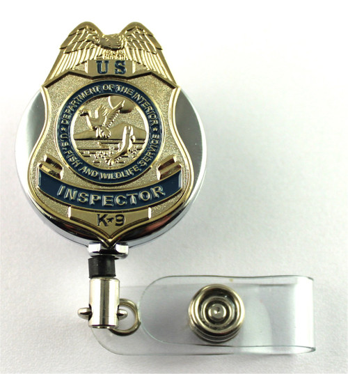 Fish and Wildlife Services K-9 Mini Badge Lapel Pin