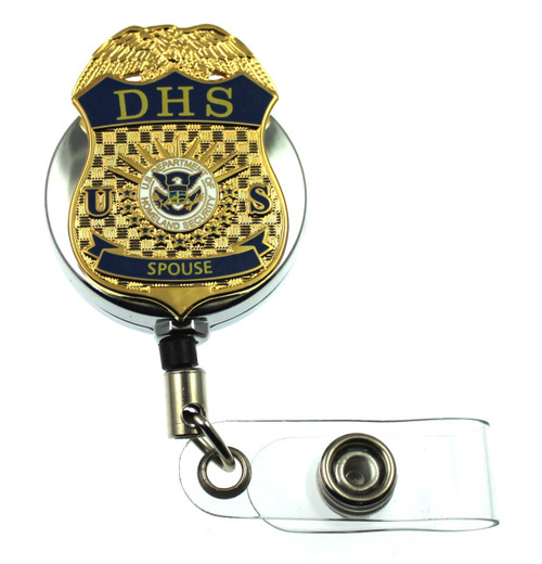 """Department of Homeland Security """"Spouse"""" Mini Badge ID Holder"""
