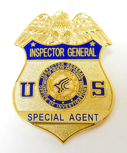 Health and Human Services Inspector General Special Agent Mini Badge Lapel Pin