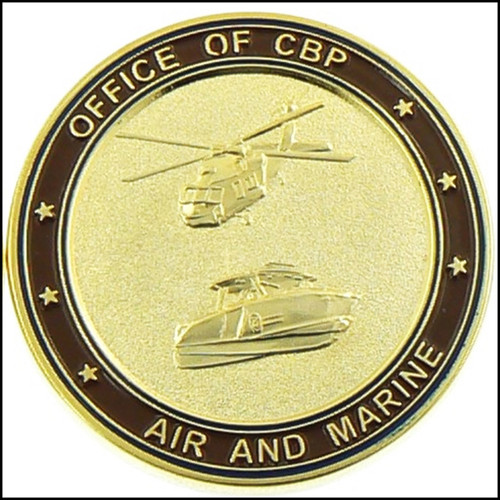CBP Office of Air and Marine Flag Challenge Coin - Back
