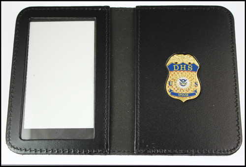 Department of Homeland Security Spouse Mini Badge Leather ID Holder Case