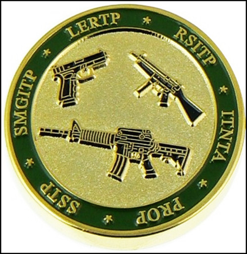 Federal Law Enforcement Training Center Tactical Firearms Branch Challenge Coin - Back