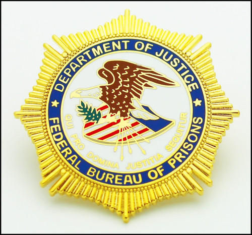 Bureau of Prisons Mini Badge Lapel Pin