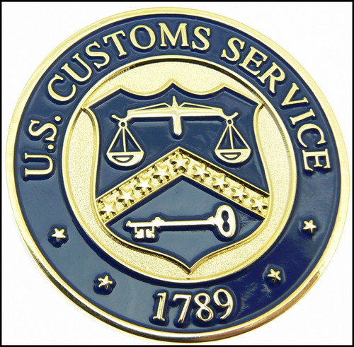 Legacy U.S. Customs Service Special Agent Challenge Coin - Back