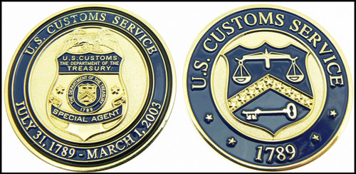 Legacy U.S. Customs Service Special Agent Challenge Coin