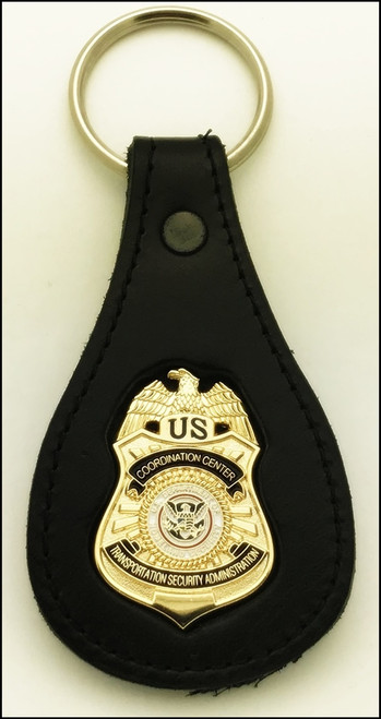 TSA K-9 Coordination Center Officer Mini Badge Key Ring