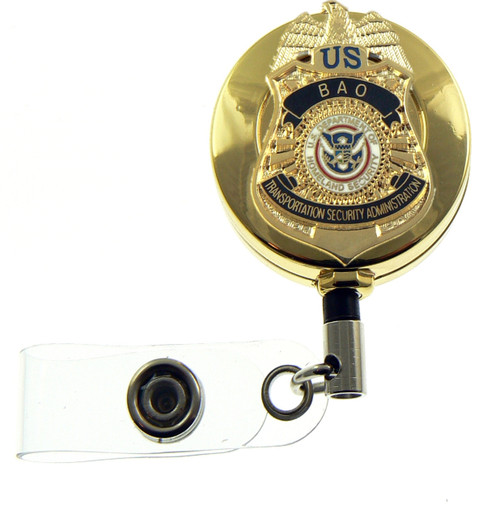Transporation and Security Administration BAO Mini Badge ID Badge Holder