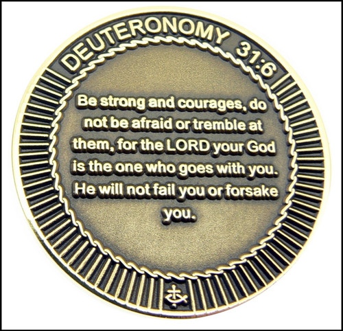 Military Kneeling Soldier Challenge Coin - Back