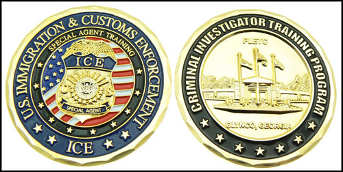ICE Criminal Investigator Challenge Coin