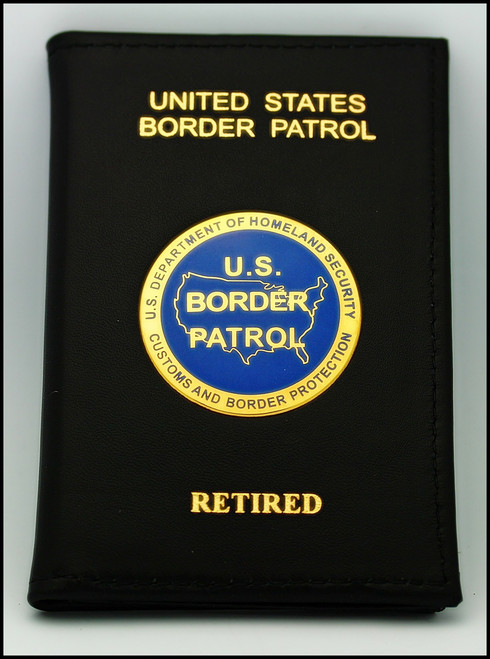 US Border Patrol Retired Agent Badge and Credential Case