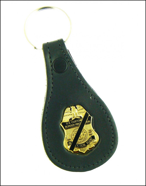 CBP Air and Marine Operations Mini Mourning Badge Key Ring