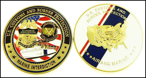CBP Air and Marine Operations Marine Interdiction Challenge Coin