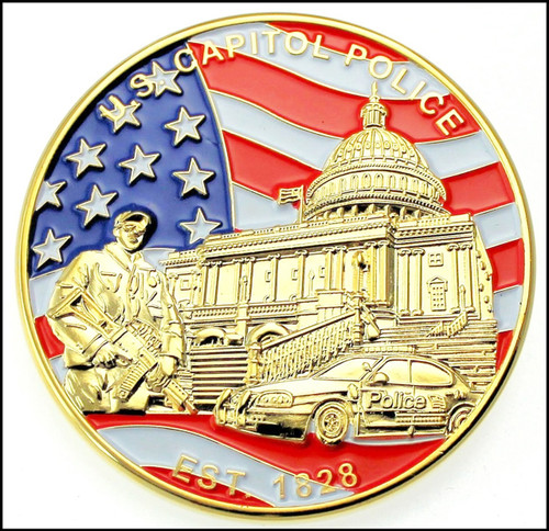 U.S. Capitol Police Challenge Coin - Back