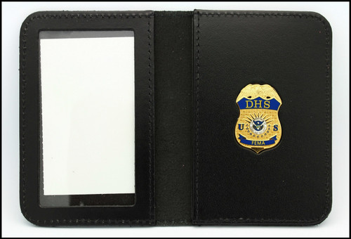 Federal Emergency Management Administration Mini Badge Leather ID Case