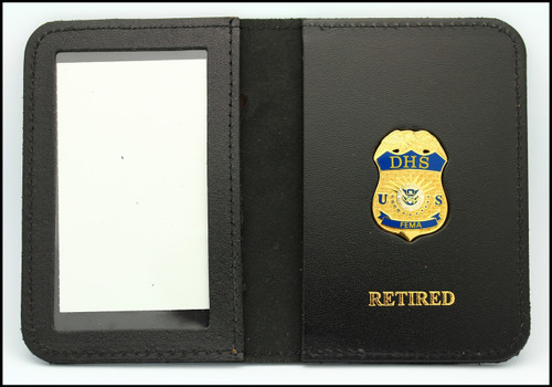Federal Emergency Management Administration Mini Badge ID Holder Case w/Retired Embossing