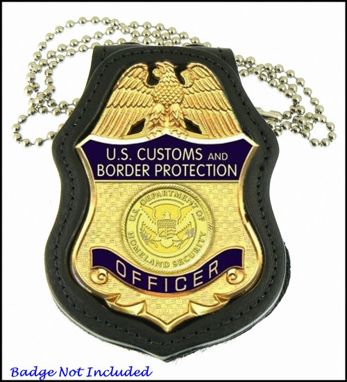 Customs and Border Protection Badge Shaped Badge Holder
