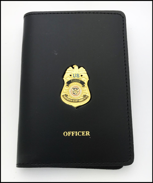 Transportation Security Administration Playbook Mini Badge Credential Case w/Officer Embossing