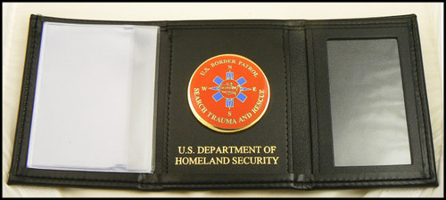 US Border Patrol BORSTAR Tri-Fold Wallet w/Dept. of Homeland Security Embossing