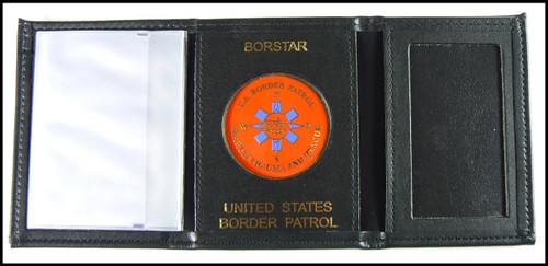 US Border Patrol BORSTAR Tri-Fold Wallet w/BORSTAR and US Border Patrol Embossing