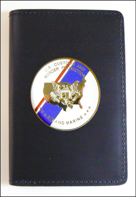 Air and Marine Operations Medallion Badge and Credential Case  - AMO Flag