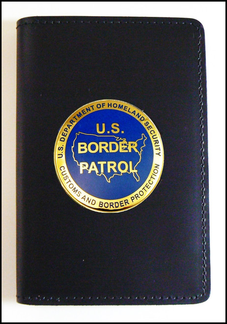 US Border Patrol Logo Medallion Badge and Credential Case