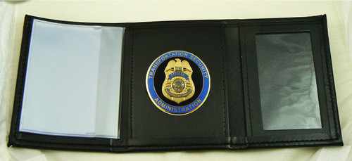 Transportation Security Administration Tri-Fold Wallet with a TSA Medallion