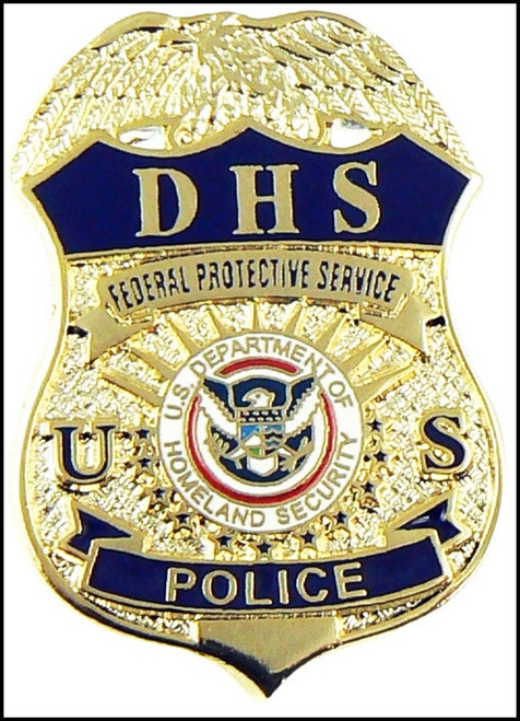 """DHS Federal Protective Service Police Mini Badge Lapel Pin - 1.5"""""""